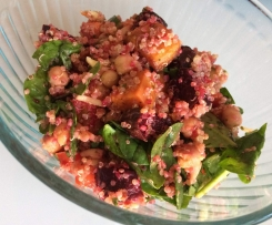 Roasted beetroot, sweet potato and quinoa Salad
