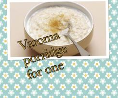"""Good morning"" Porridge for one, made in the Varoma."