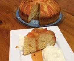 Orange Quince Cake with Orange Syrup
