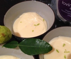 kaffir lime and coconut custard