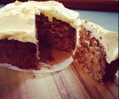 Flour-less carrot cake with cream cheese icing