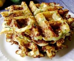 Zucchini cormeal waffles
