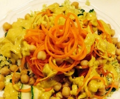 Curried Chickpea and Veggie Noddle Salad
