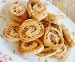 Almond Date and Walnut Scrolls