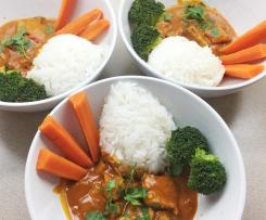 Butter Chicken with steamed vegetables