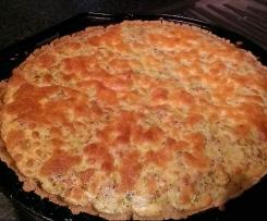 Broccoli and quinoa flour quiche