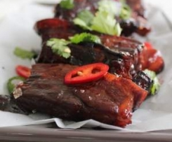 Sticky apple pork ribs