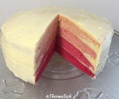 Ombre butter cake