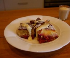 Valli Little's Plum Tray Bake with White chocolate custard
