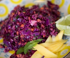 Thermogeek Green Mango, Beetroot and Cabbage Salad