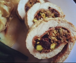 Fig, Cranberry & Pistachio Turkey Roll