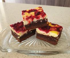 Raspberry and Chocolate Cheesecake Brownie