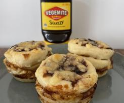 Vegemite and Cheese Stackers (with variations)