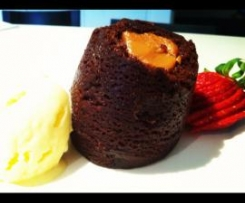 Choc caramel puddings (gluten free)