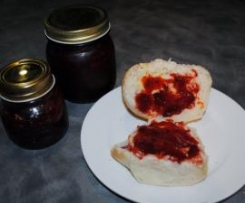 Strawberry, Vanilla Bean and Raspberry Vinocotto   Jam