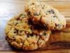 Peanut butter choc chip oat cookies