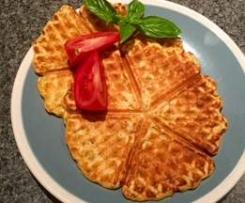 Yeasted tomato, basil and Parmesan waffles