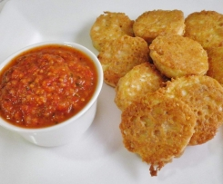 Walnut Battered Eggplant With Tomato Dipping Sauce