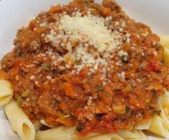 Veg loaded Spaghetti Bolognese