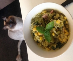 Low Fodmap - Clone of Broccollini, basil and bacon Risotto for 2
