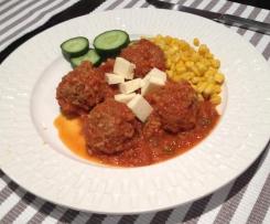 Beef Meatballs Saganaki (porcupines)