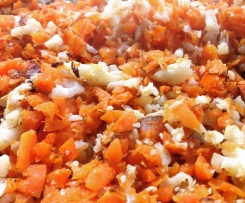 "Spicy Roasted Sweet Potato & Cauli ""Rice"""