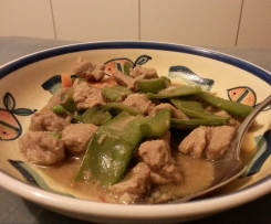 Clone of pork & snowpea stir-fry