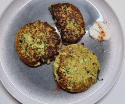 Zucchini and Haloumi Frittera with Yoghurt and Salsa