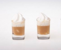 Prawn Bisque with Lemon Myrtle and Coconut Foam