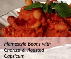 Homestyle Beans with Chorizo & Roasted Capsicum