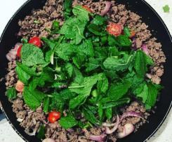 Beef Larb (Spicy Beef Salad)