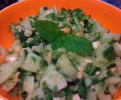 Cucumber, Ginger and Cashew Salad