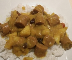 Shellbell's Curried Sausages