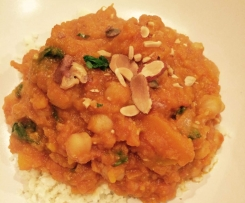Pumpkin, sweet potato & Chickpea Curry