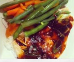 Steamed Salmon with Garlic and Ginger (Ca Hap Toi Gung) (Fructose Friendly)