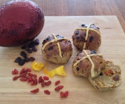 Hot Cross Buns (Gluten, Dairy, Yeast and Refined Sugar free)