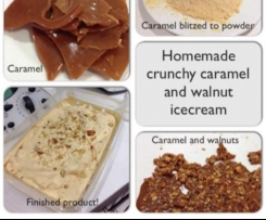 Crunchy Caramel and Walnut Ice Cream