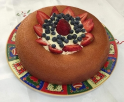 Christmas Champagne Savarin with Berries