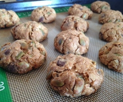 Chocolate and pumpkin seed biscuits