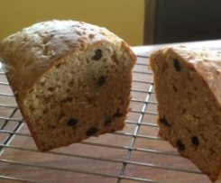 Banana cranberry oat bread