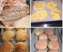One Basic Gluten Free Bread Dough 3 Ways!! Instructions for making Naan, Bread rolls or A small loaf of bread