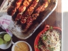 JAMIE OLIVER chicken skewers, amazing satay sauce & fiery noodle salad