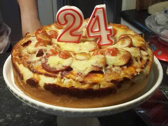 Marvelous Pizza Cake Very Deep Dish Pizza By Cella13 A Thermomix Sup Funny Birthday Cards Online Alyptdamsfinfo