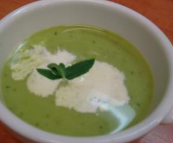 Iced Pea and Mint Soup