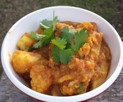 Aloo Ghobi with Potato and Cauliflower - Vegan, Whole Food Plant Based