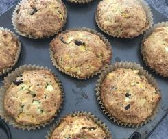 Savoury veggie filled muffins