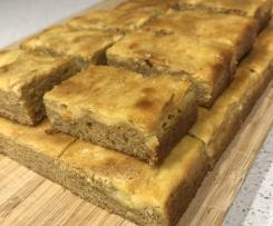 Caramilk cream cheese blondies