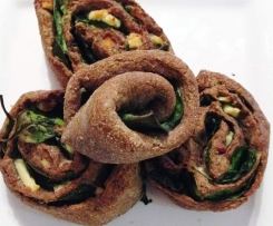 Feta and Spinach Scrolls