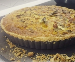Smoked Trout, Pumpkin, Feta & Sage Quiche