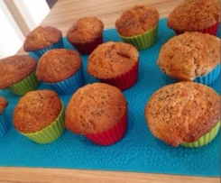 Lemon Vanilla Walnut Muffins with Chia Seeds
